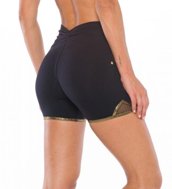 Shaping Sportswear damen Lybethras-shaping-Sport-shorts-in-schwarzen-flacher-bauch-misbela-sportbekleiung-seitlich-hinten